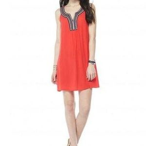 As U Wish Red Embroidered Dress